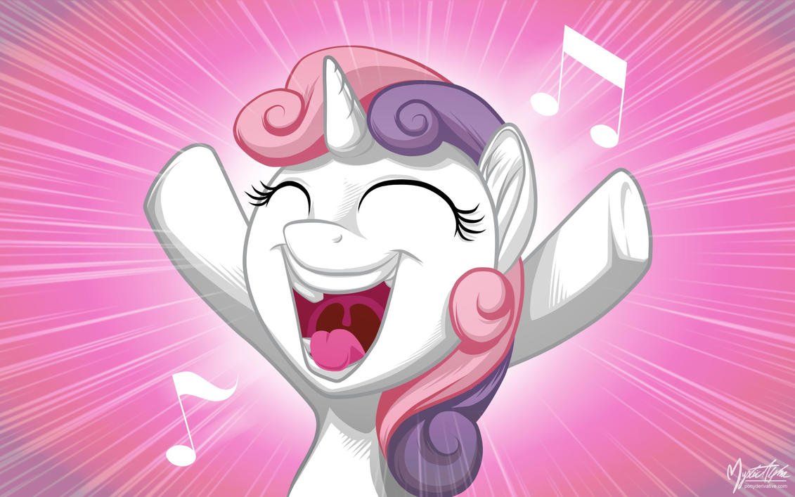Sweetie Belle Singing by mysticalpha