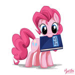 Pinkie Pie with a Book