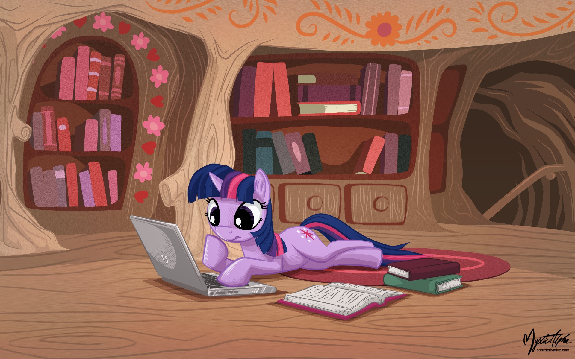 [Obrázek: twilight_sparkle_on_laptop_by_mysticalpha-d5izar0.jpg]