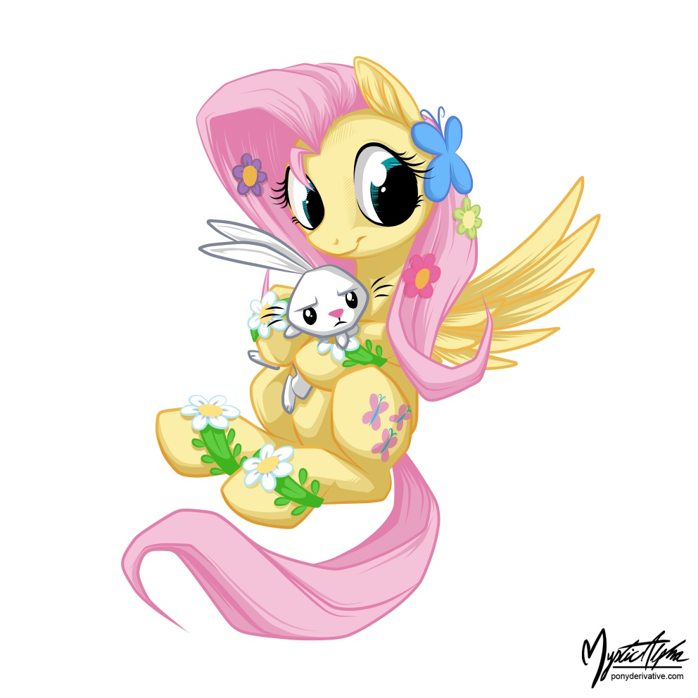 Fluttershy Holding Angel 2 by mysticalpha