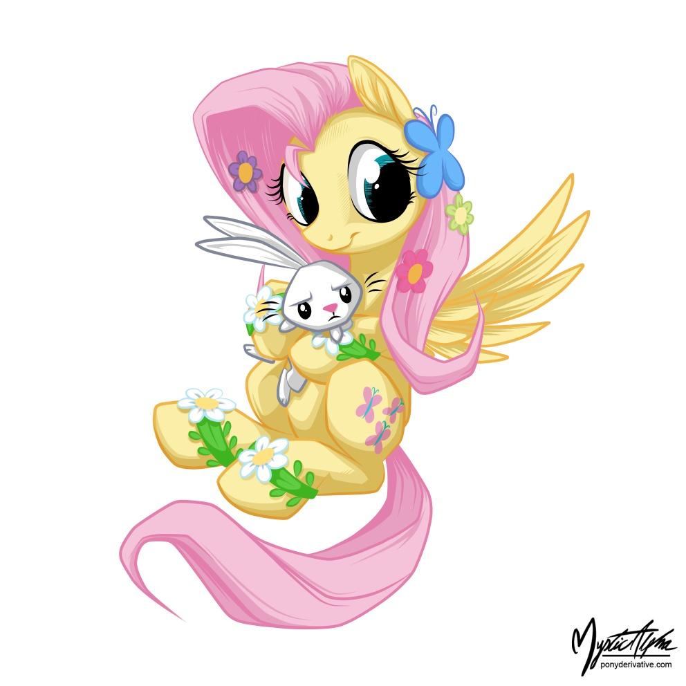 Fluttershy Holding Angel 2