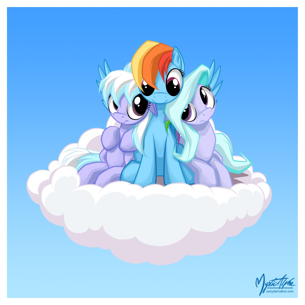 Flitter Cloudchaser and Rainbow