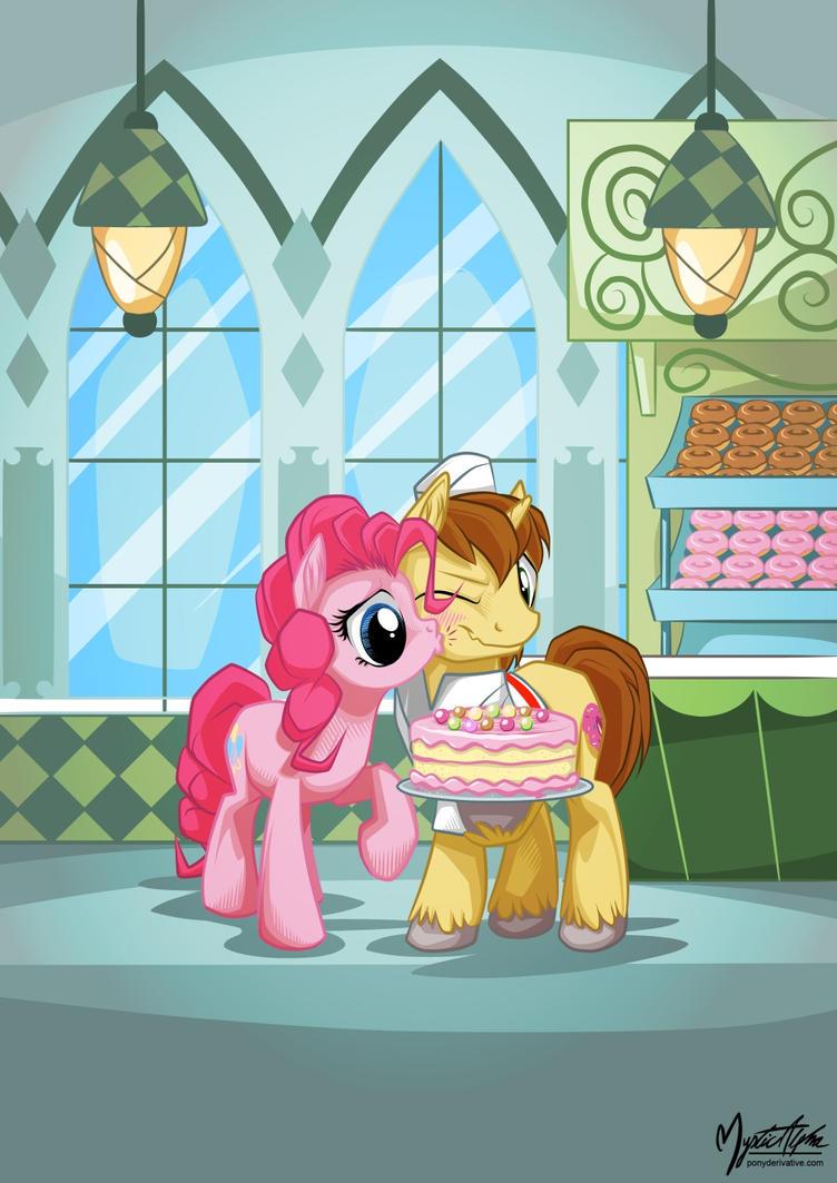 Pinkie Pie and Joe by mysticalpha