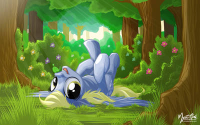 Derpy in Forest by mysticalpha