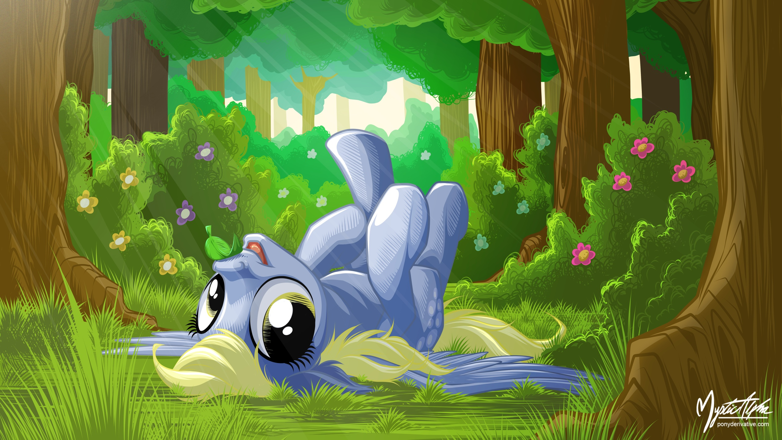 Derpy in Forest 16:9 by mysticalpha
