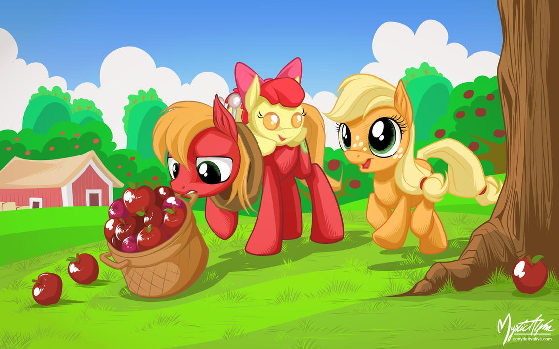 Apple Fillies by mysticalpha