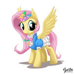 Fluttershy in a dress