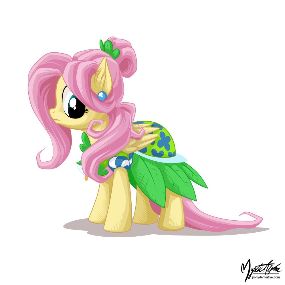 Fluttershy in a dress 3 by mysticalpha
