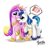 Shining Armor Licks Cadance