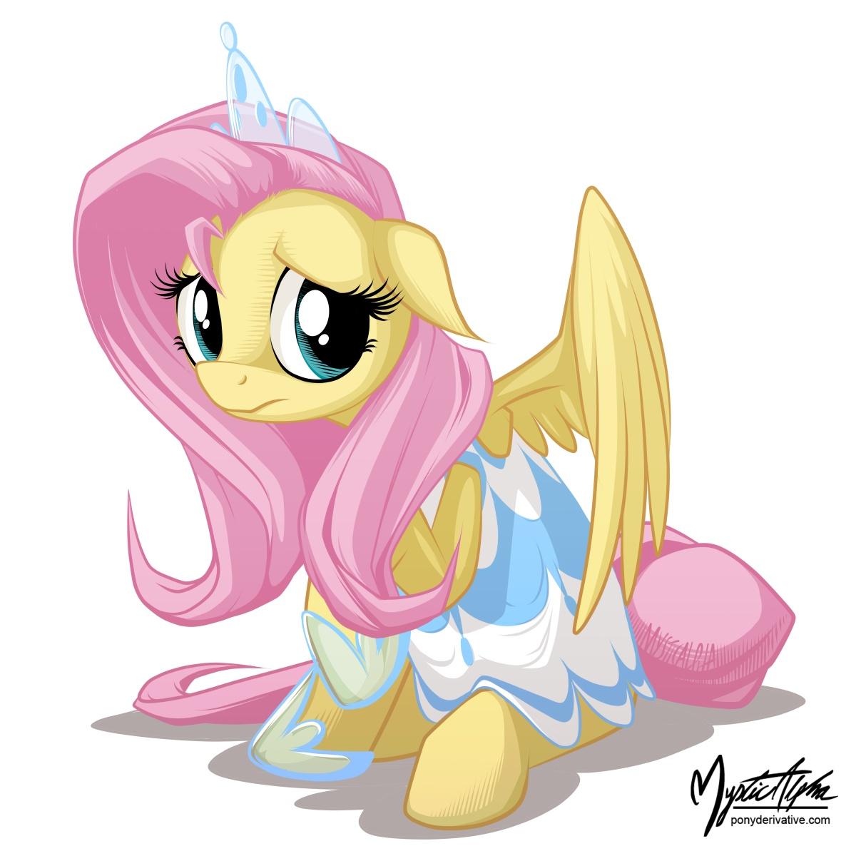 Fluttershy in a dress 4