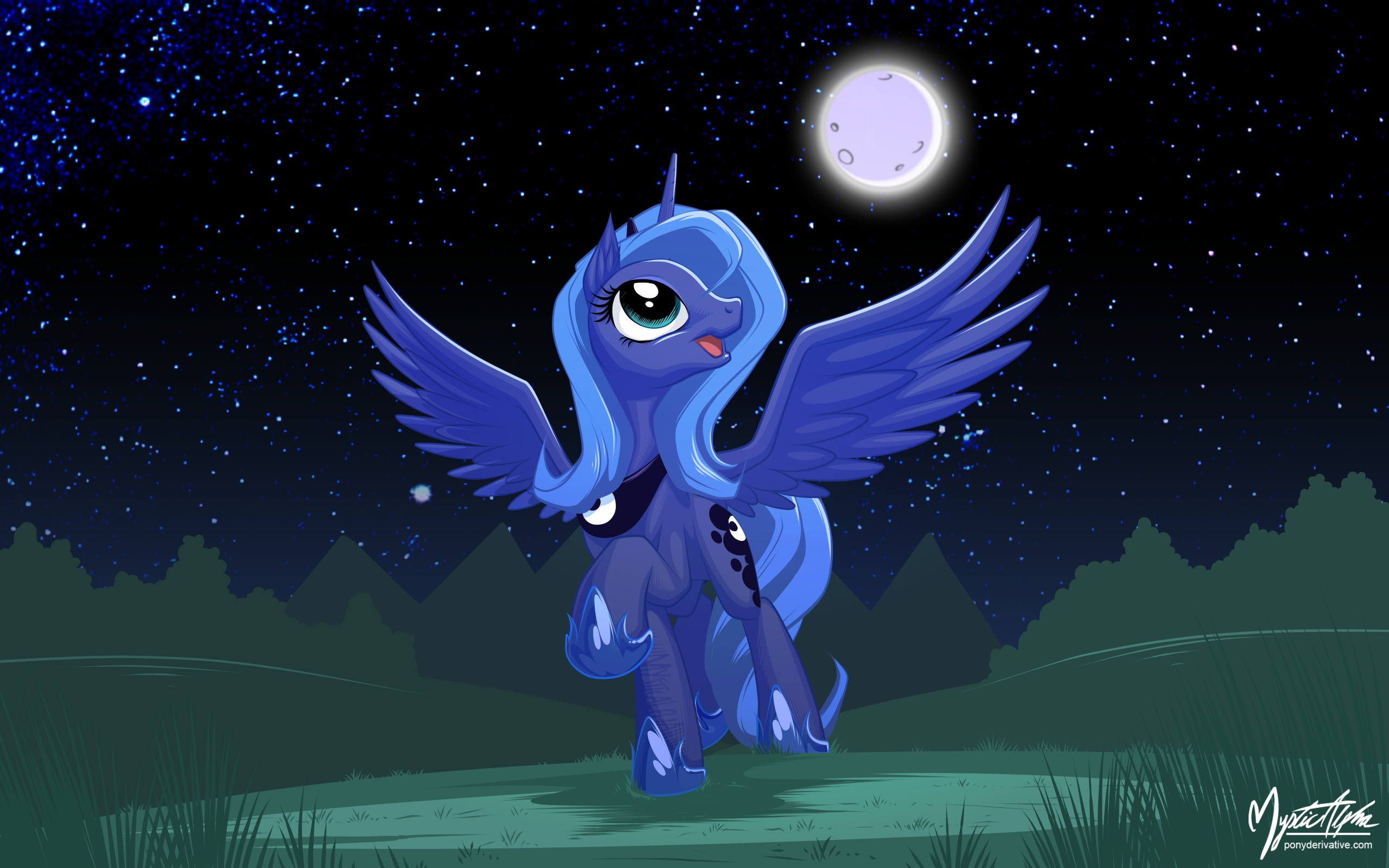 Happy Luna 16:10 by mysticalpha
