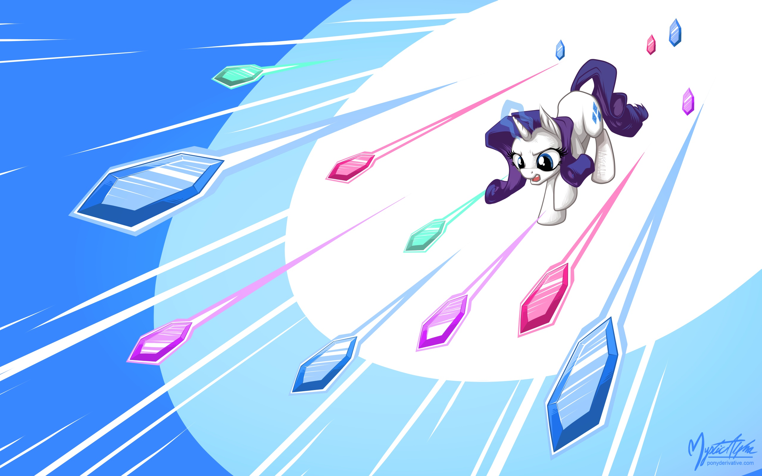 Rarity - Flying Gems by mysticalpha