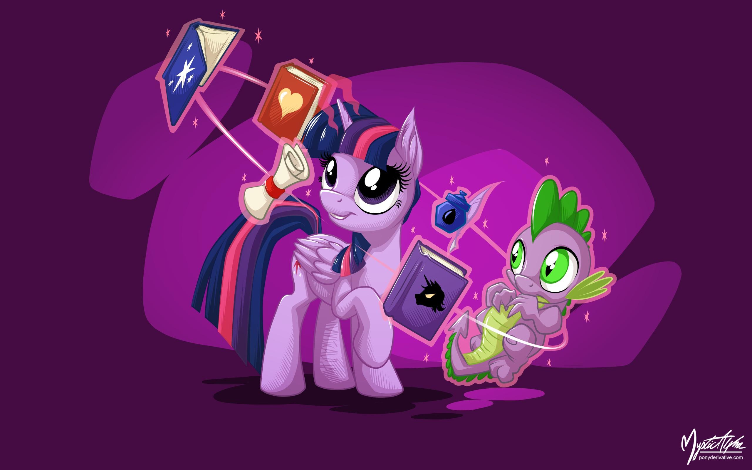Twilight Sparkle and Spike 2