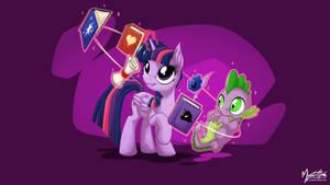 Twilight Sparkle and Spike 2 16:9