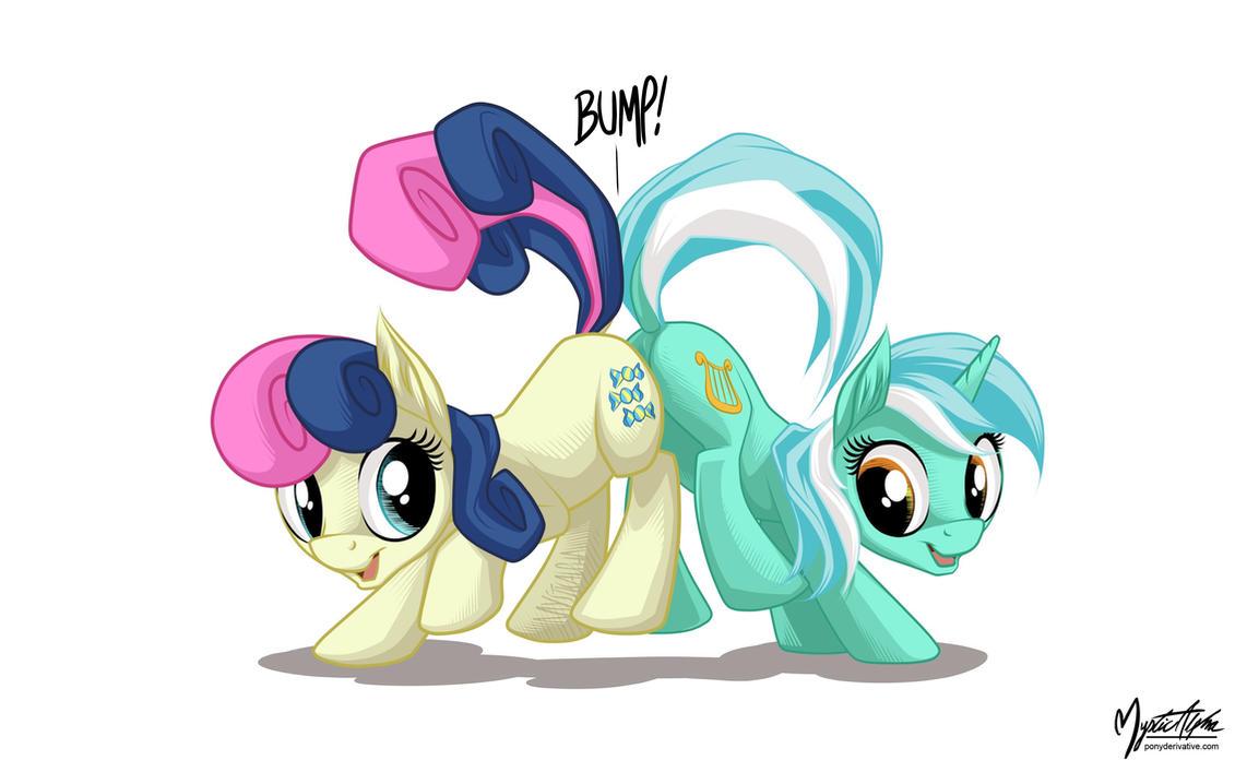 Bon-bon and Lyra Bump by mysticalpha