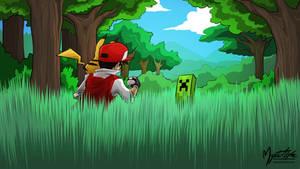 Pokemon Red vs. Creeper 16:9