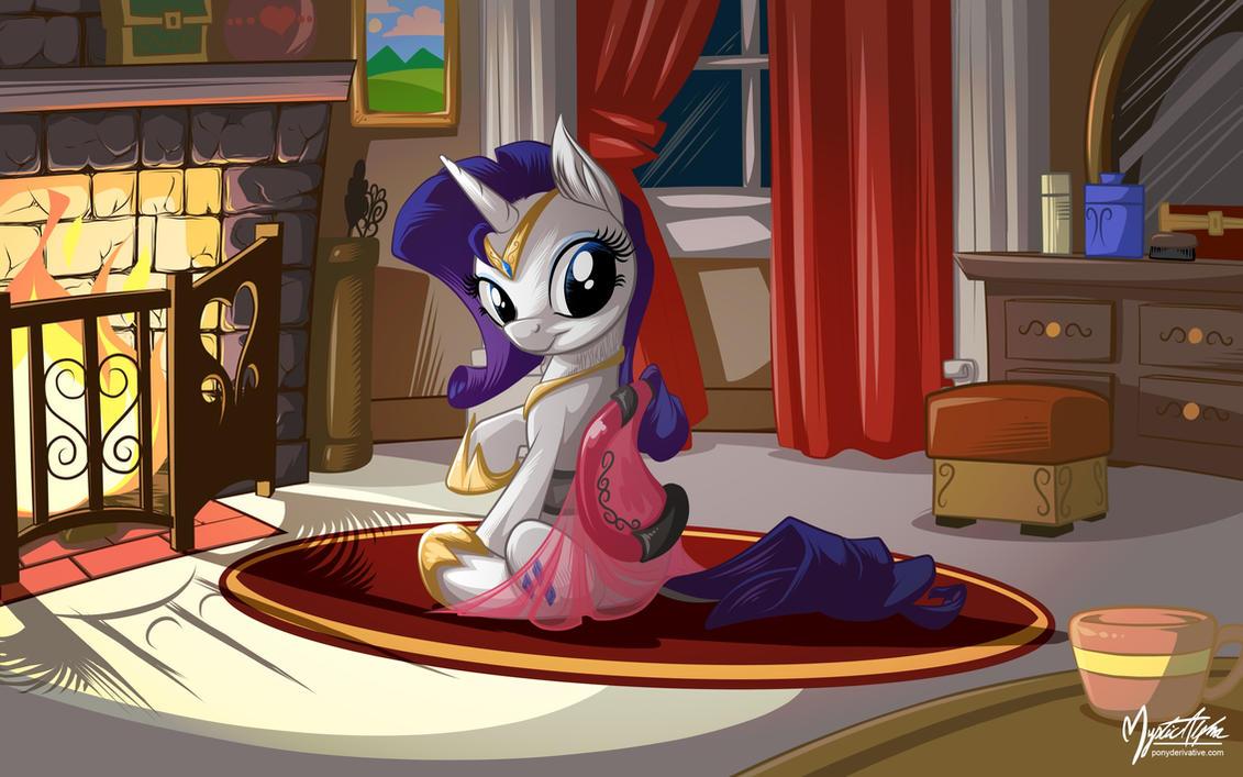 Rarity Saddle Dress by mysticalpha
