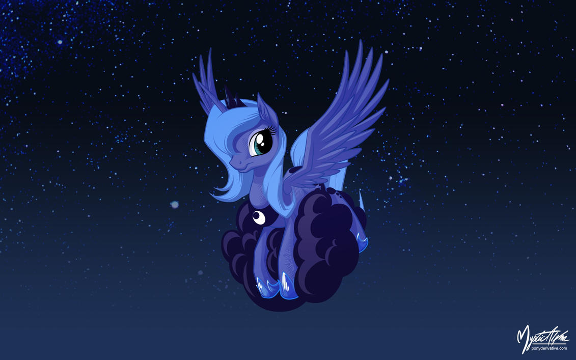 Luna on a Cloud 2 by mysticalpha