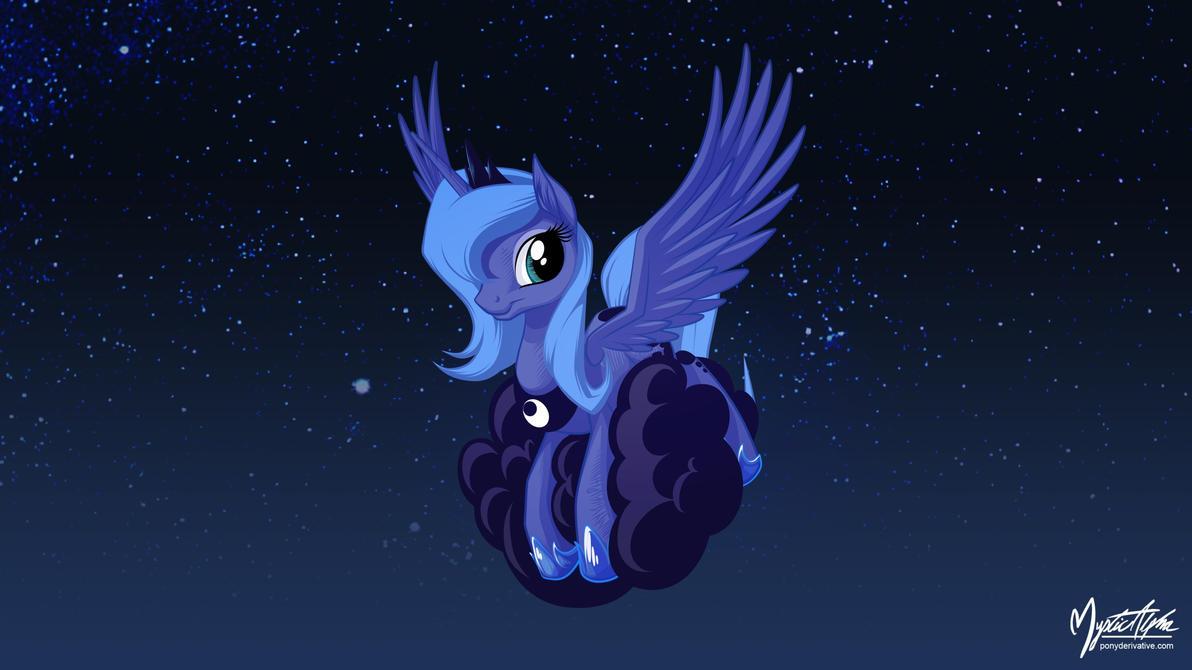 Luna on a Cloud 2 16:9 by mysticalpha