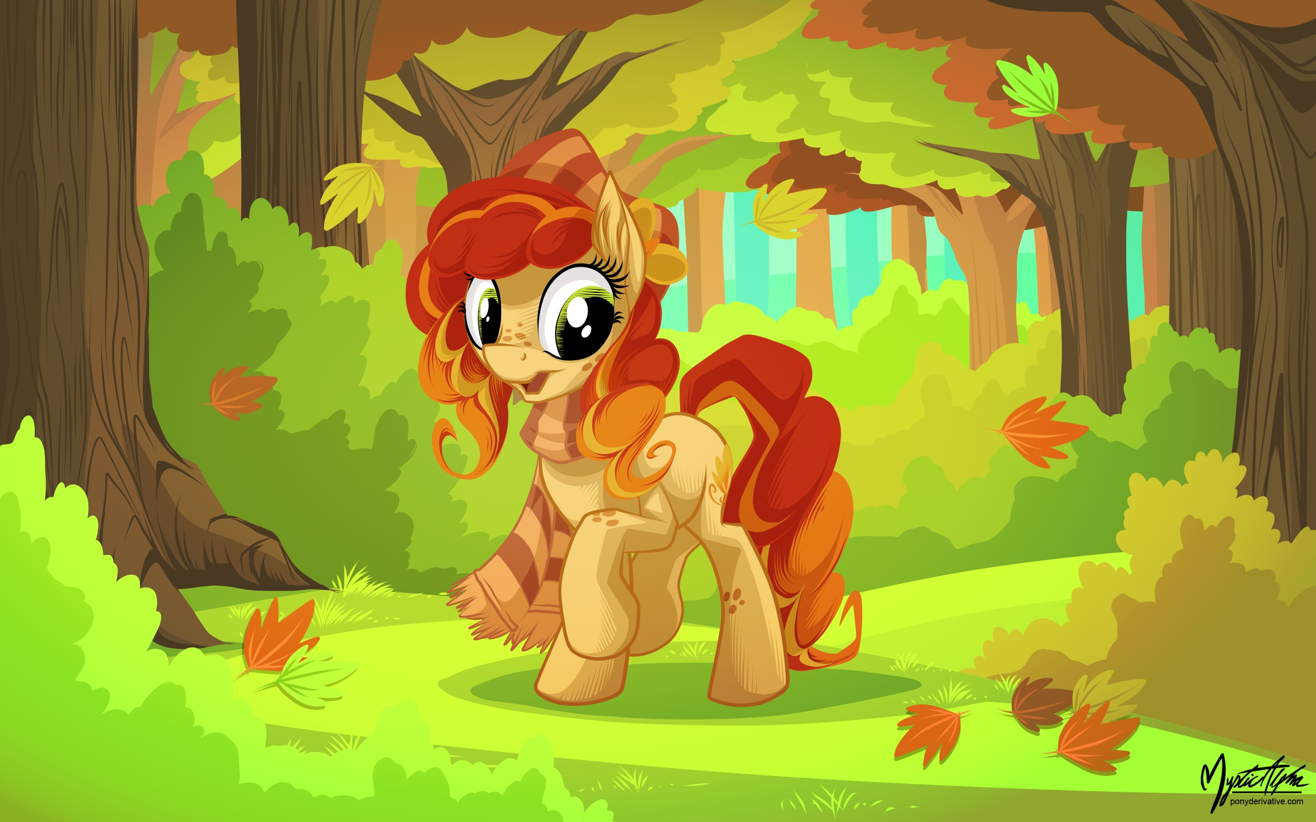 Pony in Autumn by mysticalpha