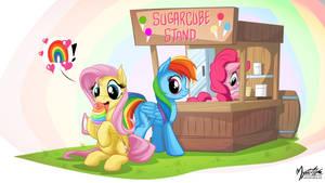 Fluttershy loves Rainbow 16:9