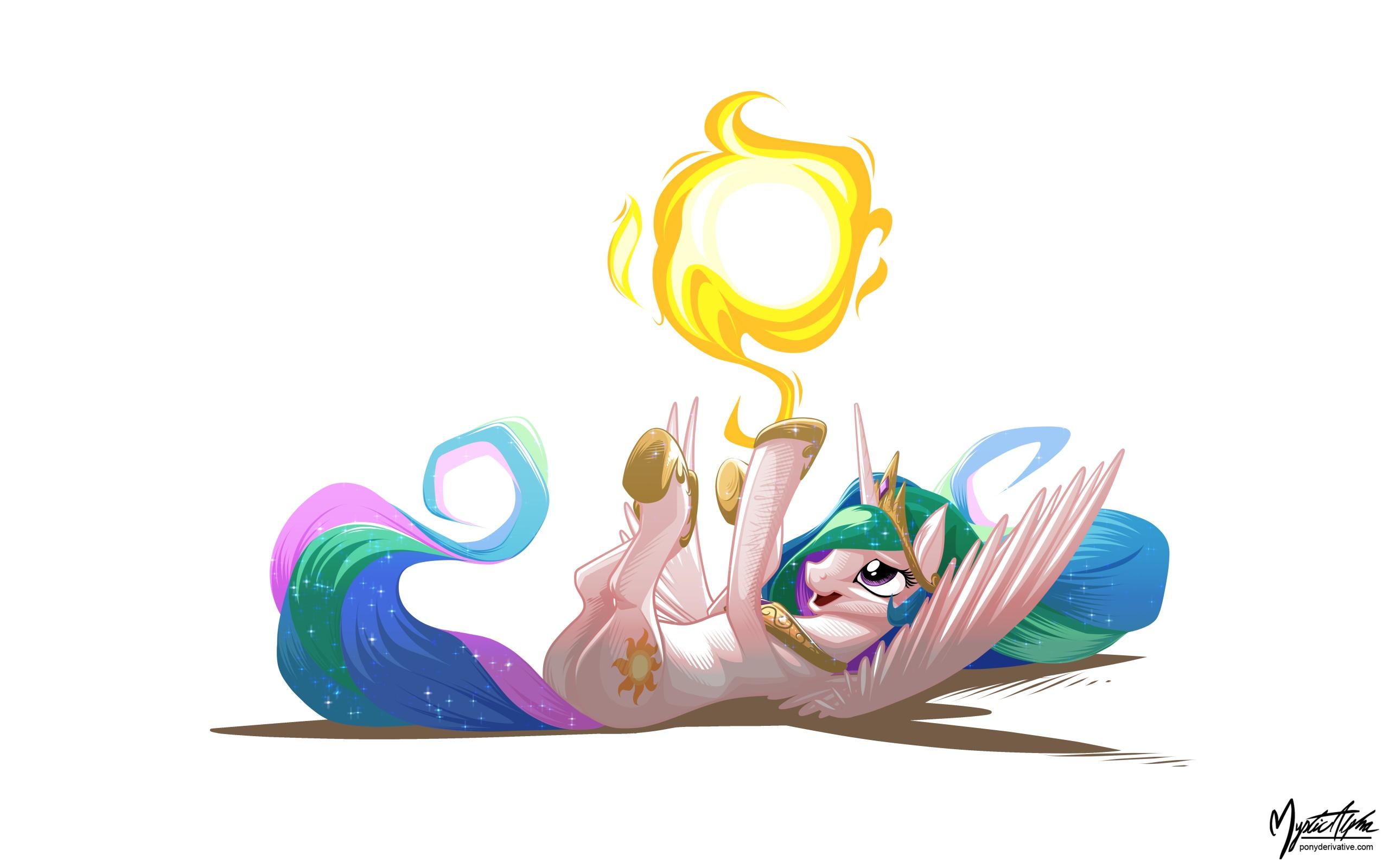 Celestia Sun Tumbling by mysticalpha