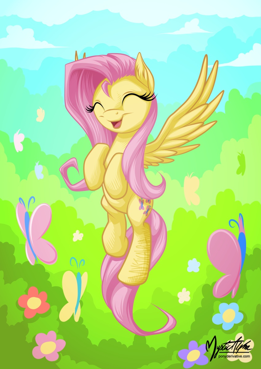 Fluttershy Flying 001 Take 2 by mysticalpha