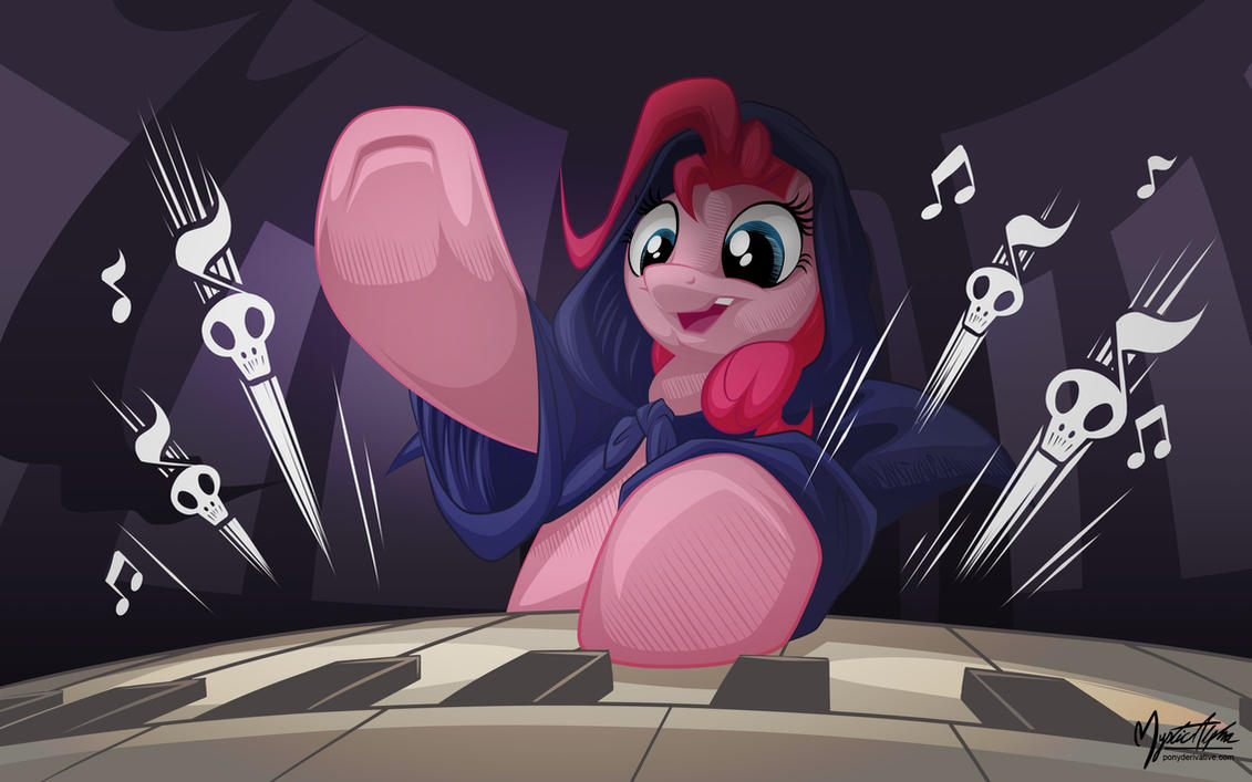 Pinkie Pie Playing Organ by mysticalpha