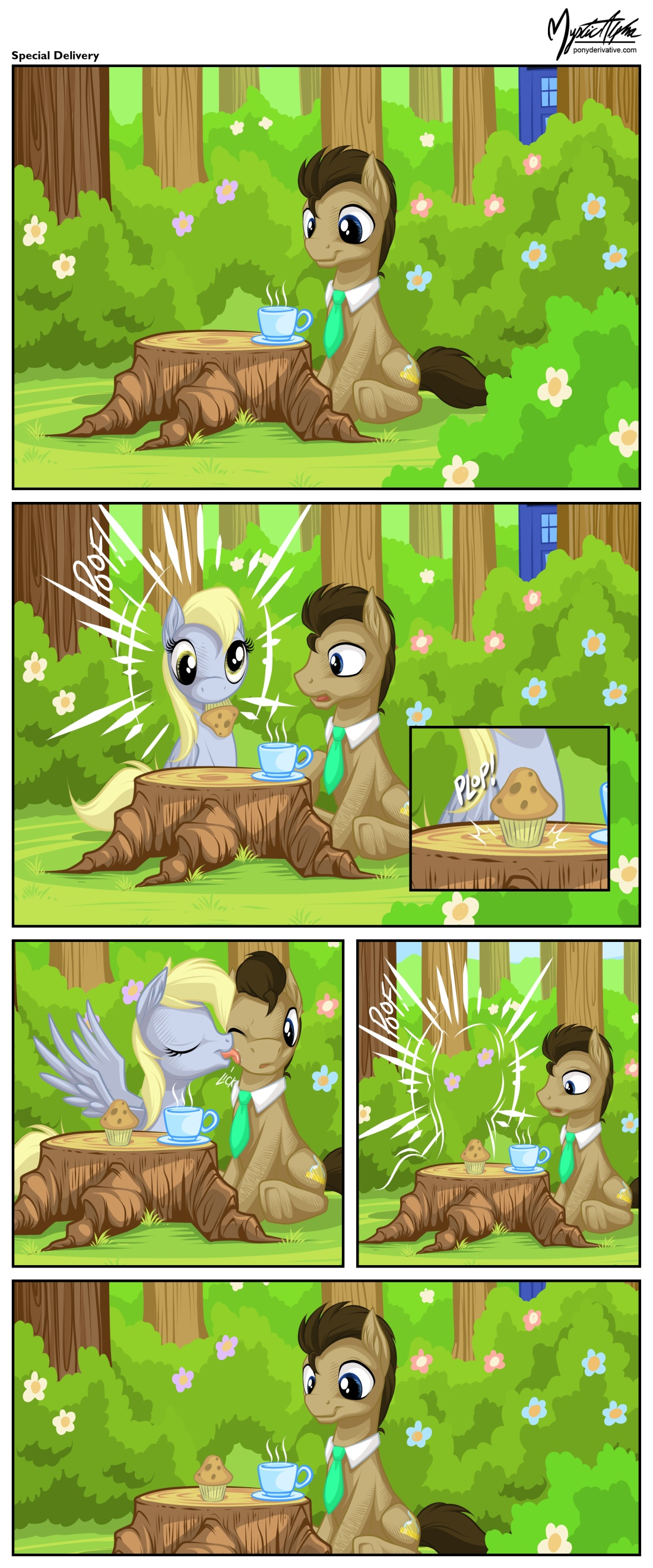 Dr. Whooves and Derpy - Special Delivery