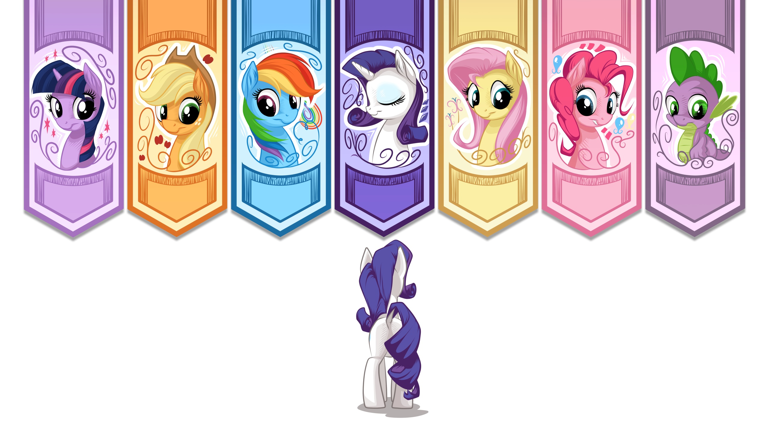Pony Banners 16:9 by mysticalpha