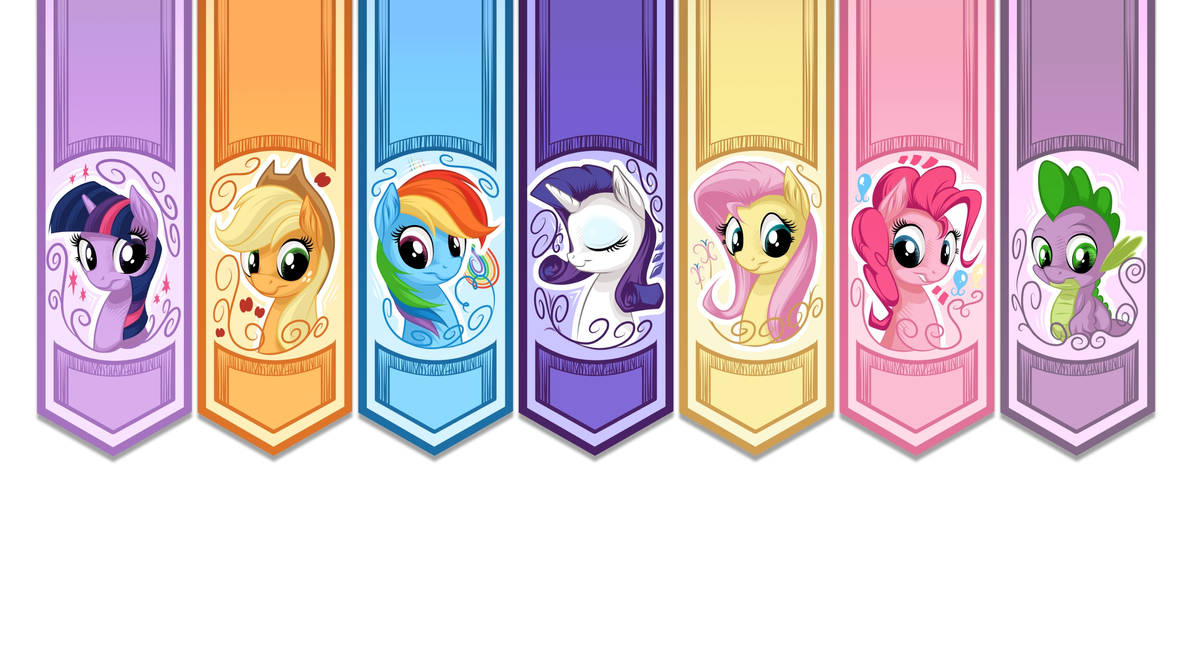 Pony Banners - Non Rarity - 16:9 by mysticalpha