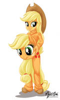 EQG Applejack cosplaying
