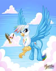 Rainbow Dash the Griffon by mysticalpha