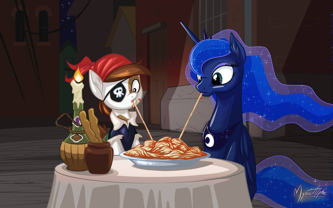 Pipsqueak and Luna by mysticalpha