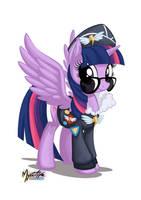 Twilight Sparkle as Commander Easyglider by mysticalpha