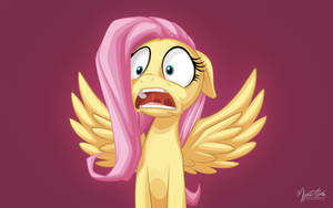 Fluttershy's Reaction by mysticalpha