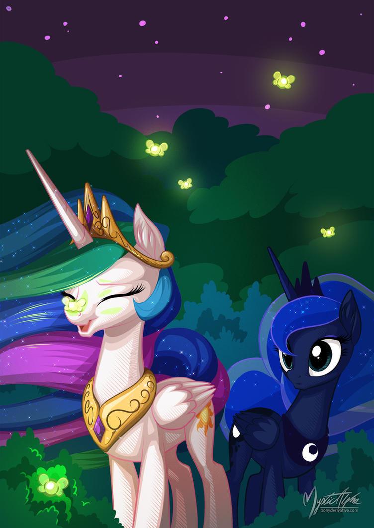 Celestia Luna - Night Time by mysticalpha