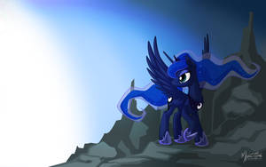 Luna on Top 16:10 by mysticalpha