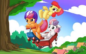 Cutie Mark Crusaders Rides Again by mysticalpha