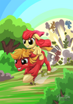 Big Mac and Apple Bloom's Race to Finish