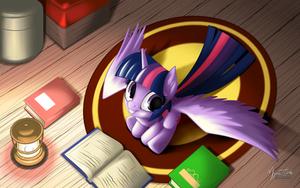 Twilight Sparkle Reading by mysticalpha