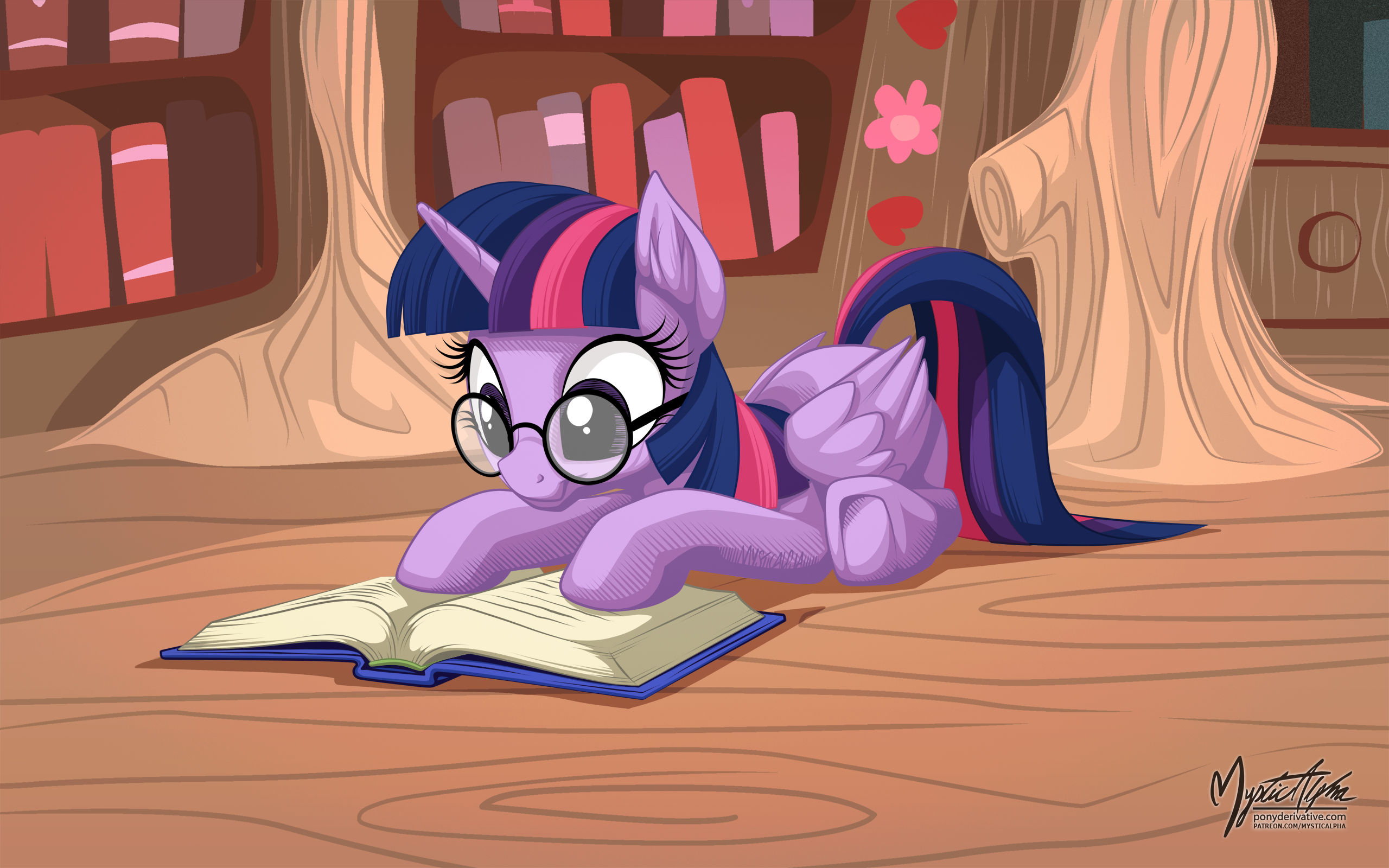 Twilight Sparkle Reading
