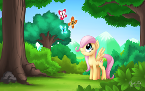 Young Fluttershy - Filled with Wonders by mysticalpha