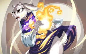 Fireball Toriel (Undertale) by mysticalpha