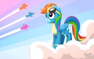 Rainbow Dash Wonderbolt by mysticalpha