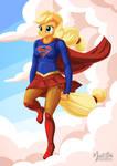 Applejack as Supergirl