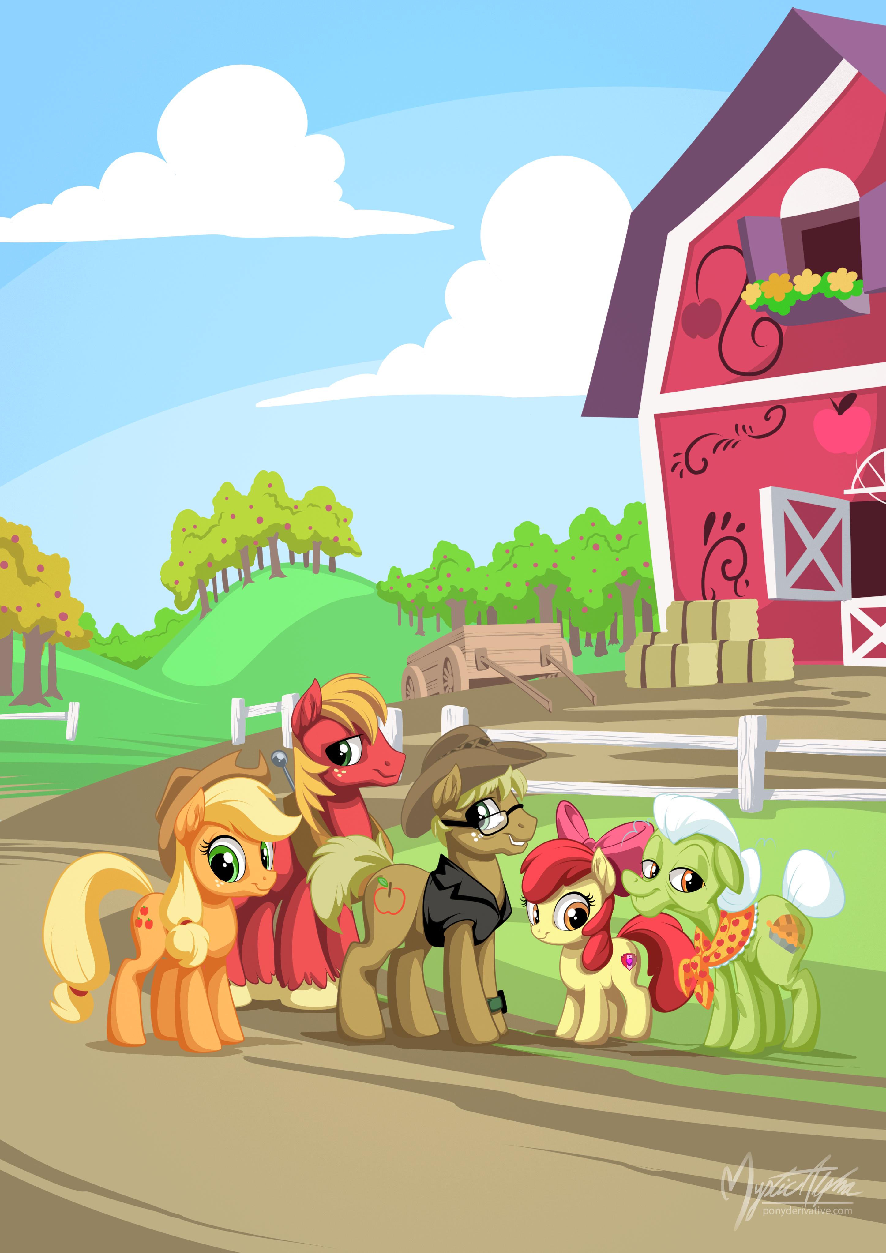 Apples on the farm