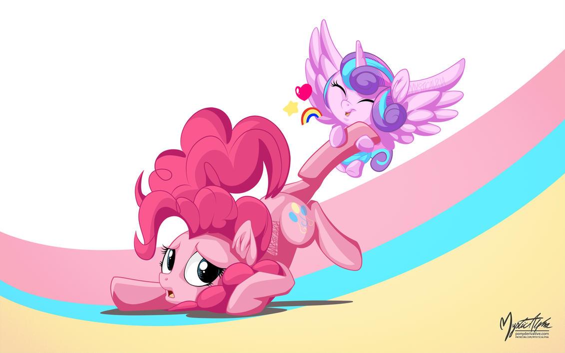 Flurry Heart Dragging Pinkie