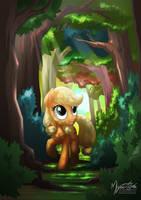 Young Applejack by mysticalpha