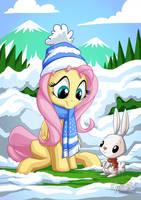 Fluttershy Angel Winter by mysticalpha